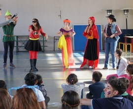 Visita de los chicos de La Huella al Colegio